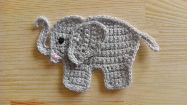 Free Crochet Pattern Elephant How To Crochet An Elephant Application Applique Youtube