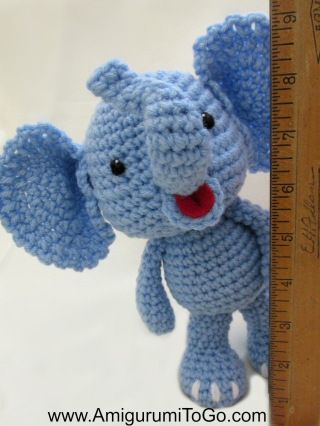 Free Crochet Pattern Elephant Little Bigfoot Elephant Video And Pattern Amigurumi To Go