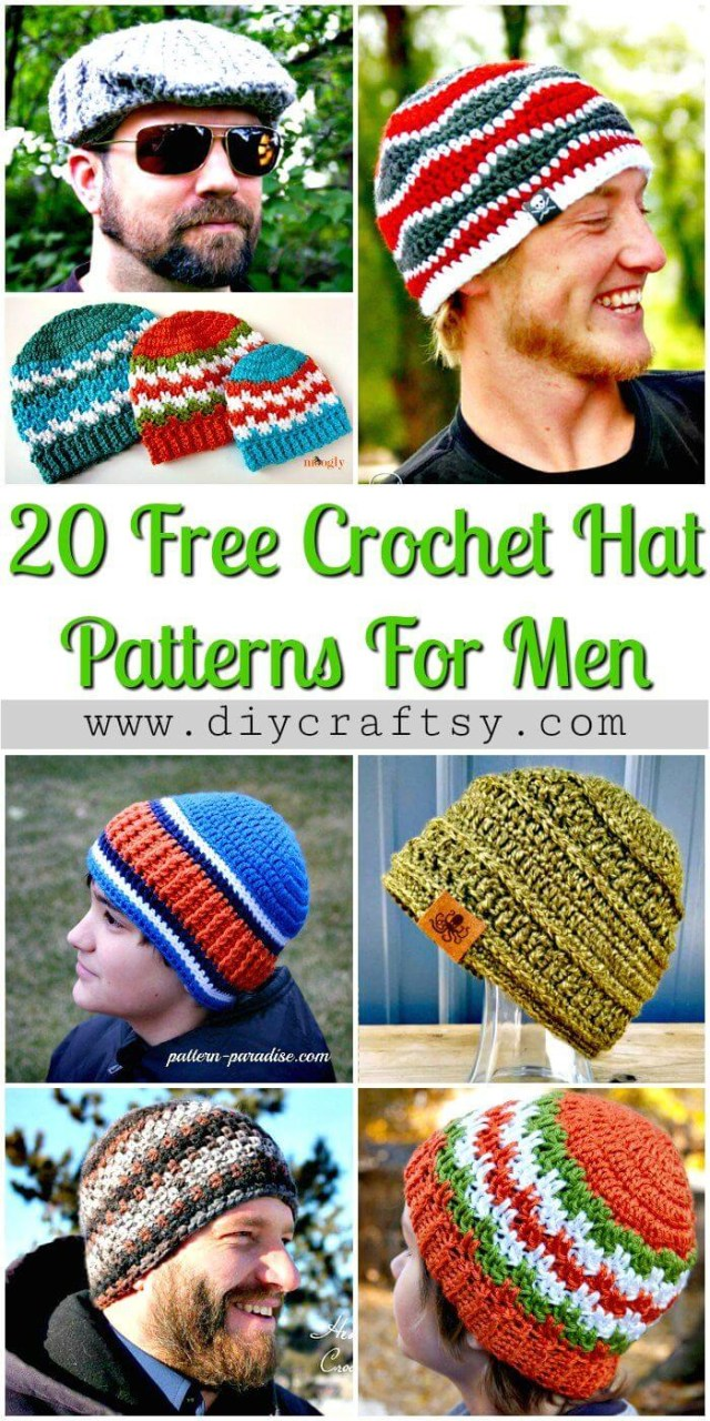 Free Crochet Patterns For Men 20 Free Crochet Hat Patterns That Adorable For Mens Diy Crafts