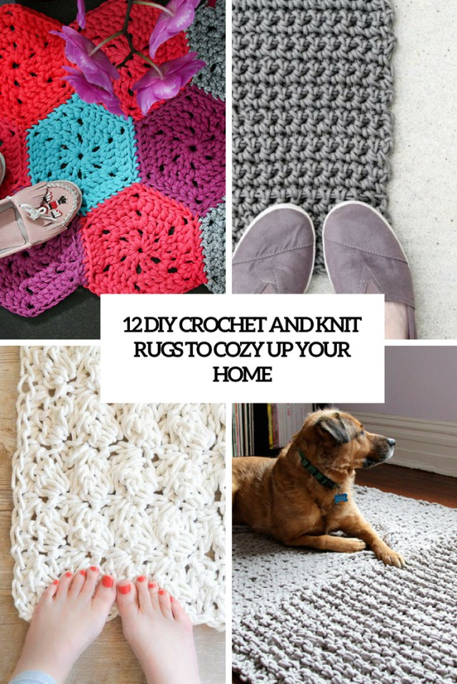Hexagon Crochet Rug Pattern 12 Diy Crochet And Knit Rugs To Cozy Up Your Home Shelterness