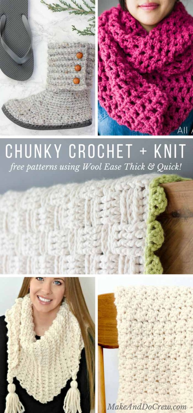 Lionbrand Com Free Crochet Patterns Lion Brand Wool Ease Thick Quick Free Patterns Make Do Crew