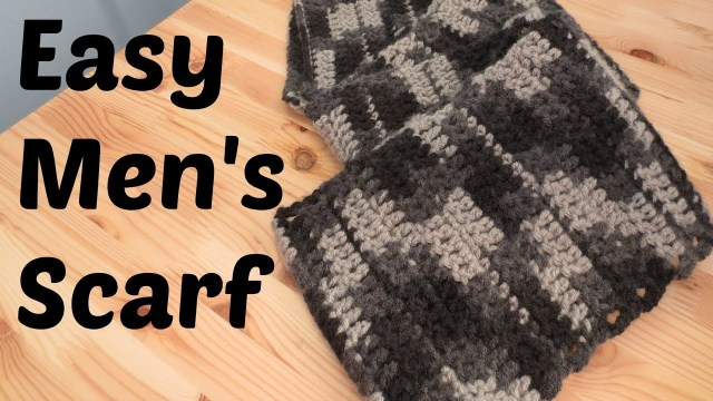 Male Scarf Crochet Pattern Easy Mens Scarf Youtube