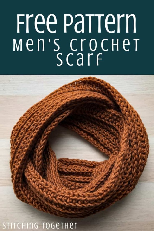 Male Scarf Crochet Pattern Entirely Easy Mens Scarf Crochet Pattern Stitching Together