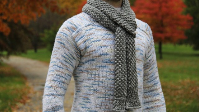 Male Scarf Crochet Pattern How To Knit Mens Scarf Video Tutorial With Detailed Instructions
