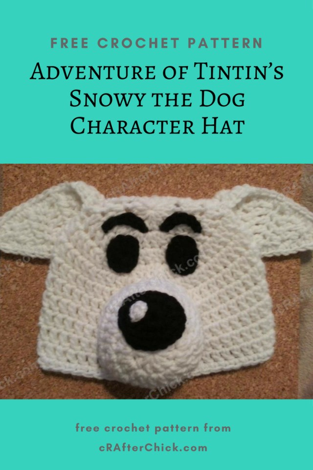 Puppy Dog Crochet Hat Pattern Adventure Of Tintins Snowy The Dog Character Hat Crochet Pattern