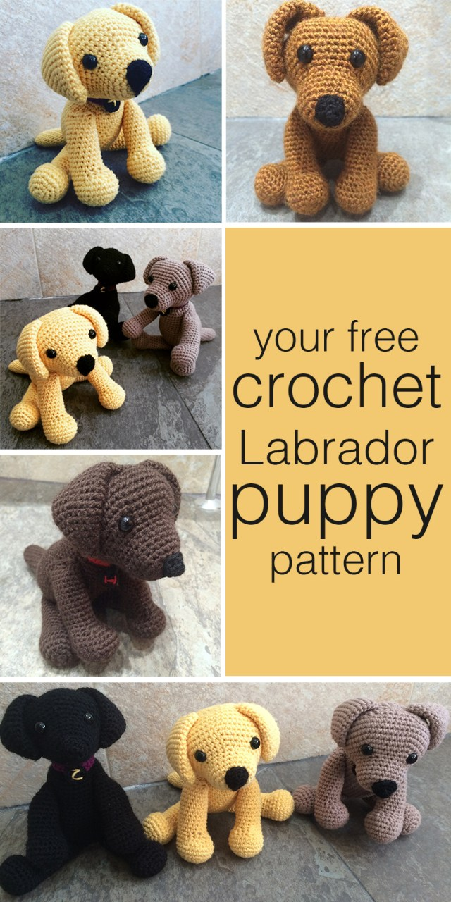 Puppy Dog Crochet Hat Pattern Crochet Labrador How To Make Your Own Toy Dog The Labrador Site