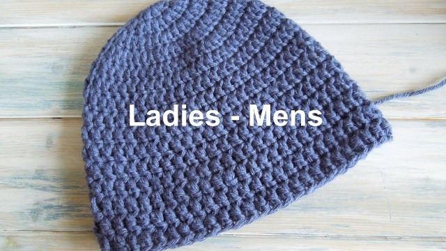 Simple Crochet Hat Pattern Crochet How To Crochet A Simple Beanie For Ladies Mens Size 22