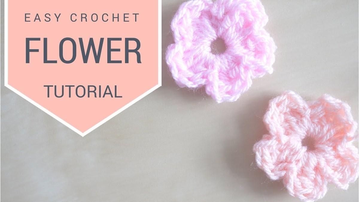 Simple Crochet Rose Pattern Crochet Simple Flower Tutorial Bella Coco Youtube