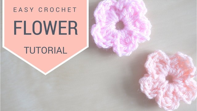 Simple Crochet Rose Pattern Crochet Simple Flower Tutorial Bella Coco Youtube