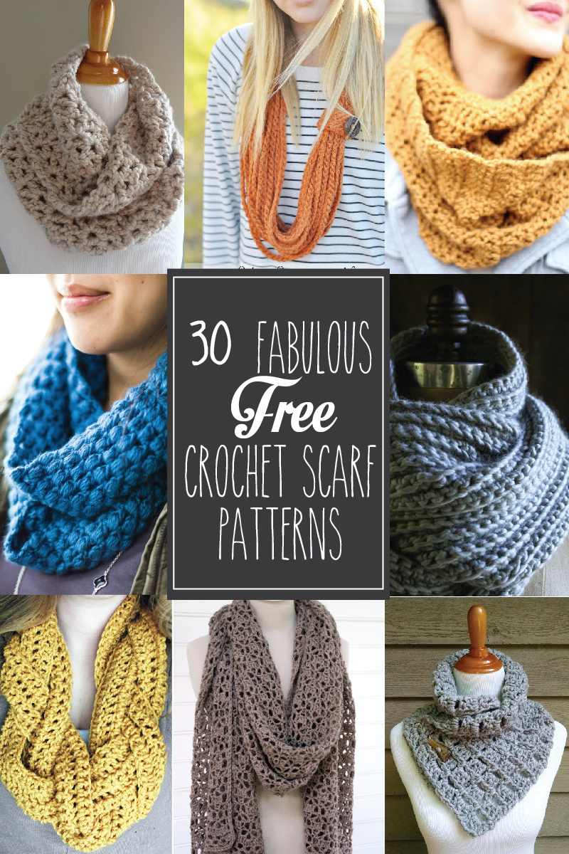 Simple Crochet Scarf Patterns 30 Fabulous And Free Crochet Scarf Patterns