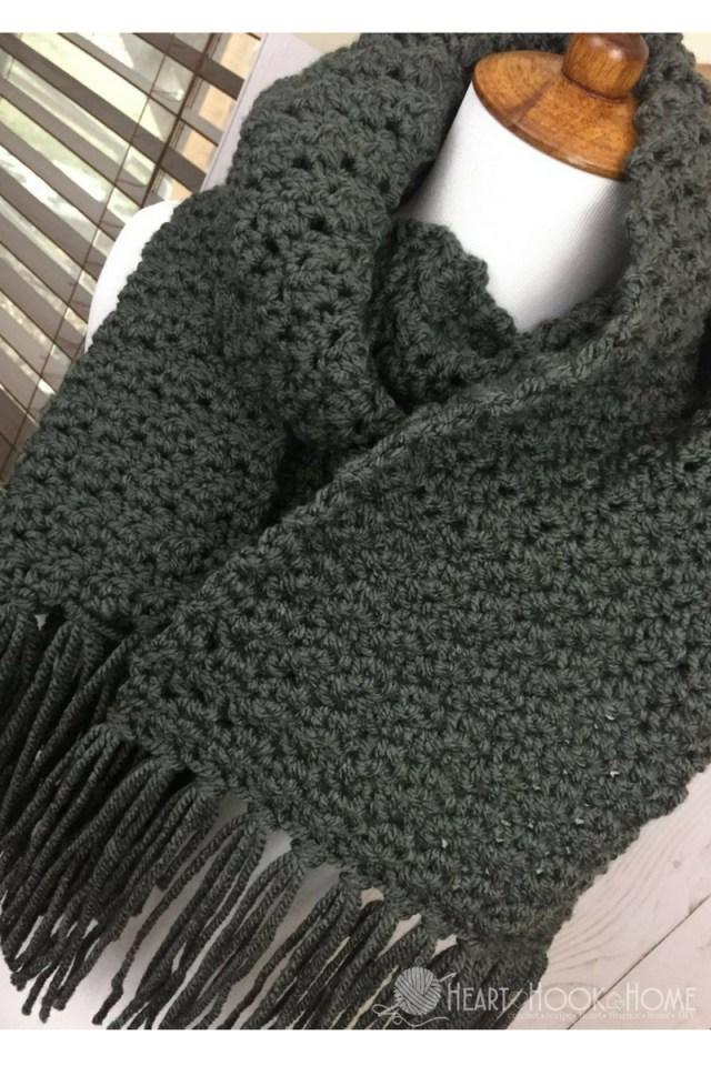 Simple Crochet Scarf Patterns Simple Scarf For Men Free Crochet Pattern