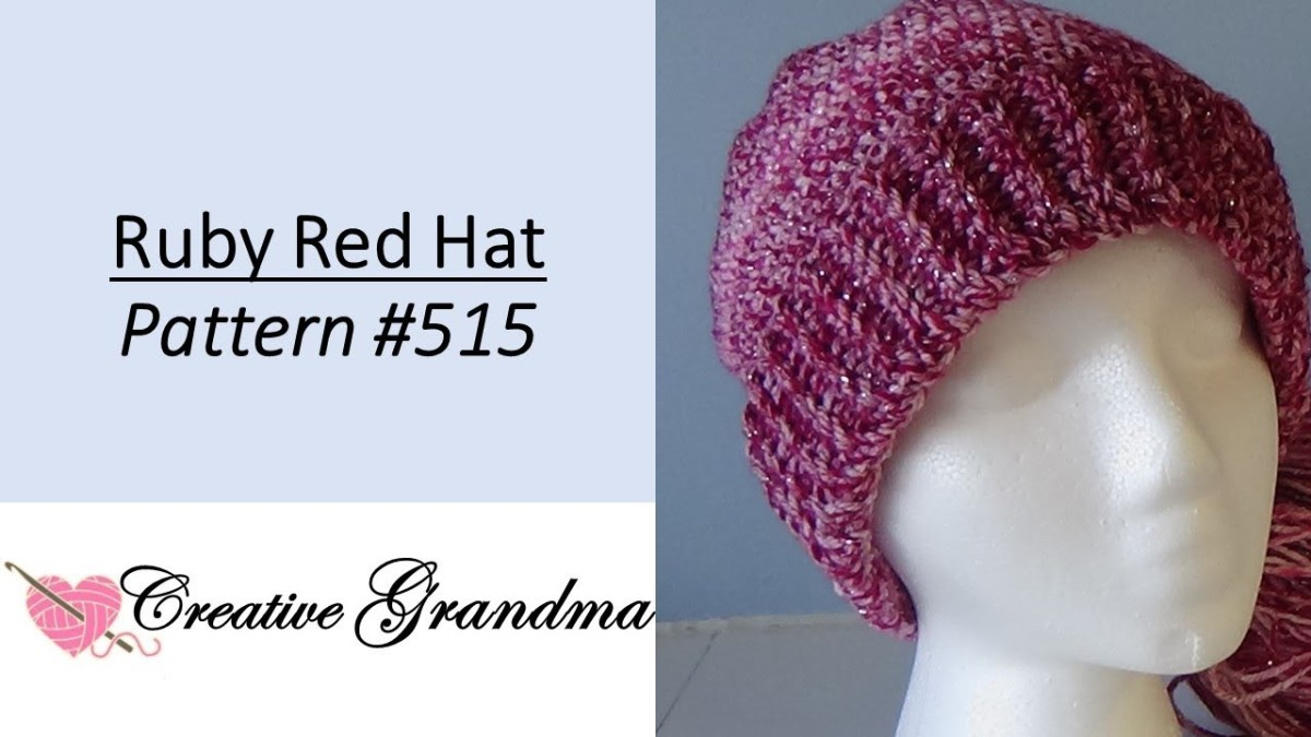 Single Crochet Hat Pattern Ru Red Hat Pattern 515 Quick And Easy Single Crochet Youtube