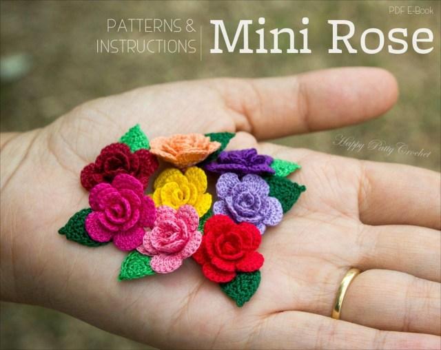 Small Crochet Flower Pattern Crochet Pattern Mini Crochet Flower Pattern Happypattycrochet