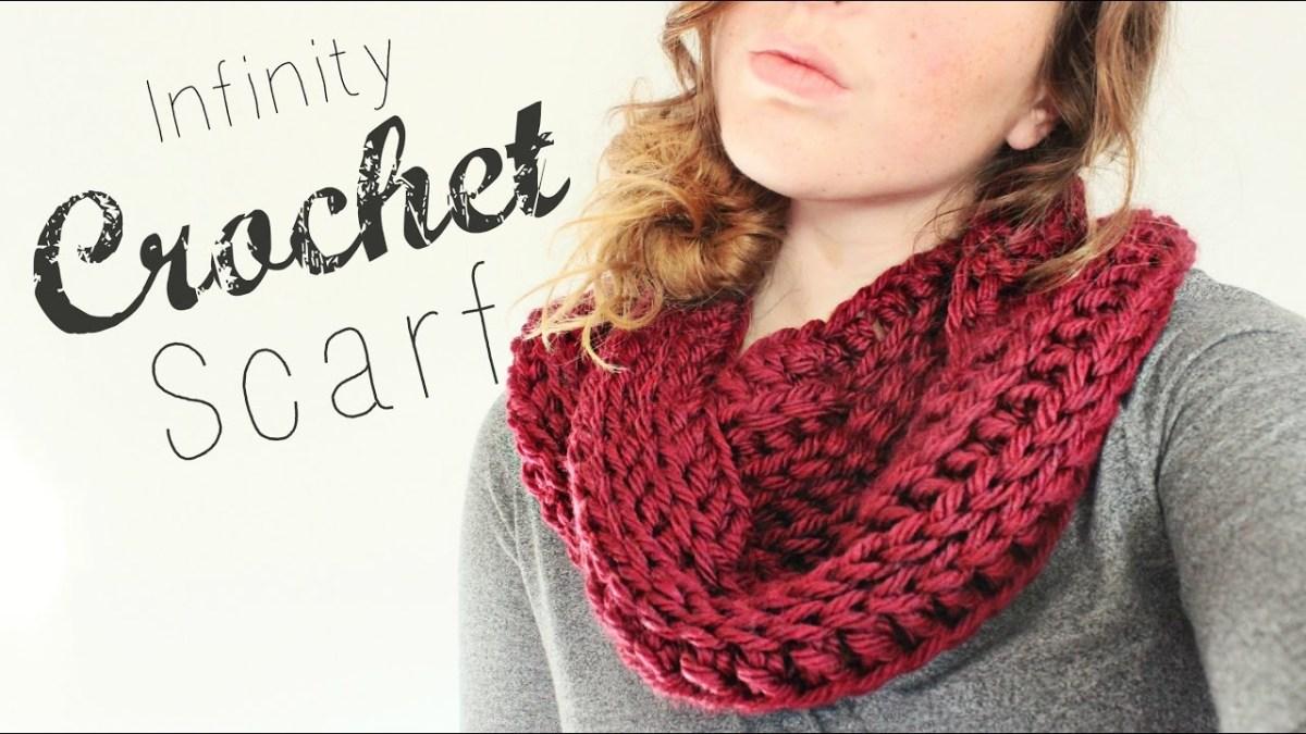 Snood Scarf Crochet Pattern Crochet Infinity Scarf Crochet Beginner Veronica Marie Youtube