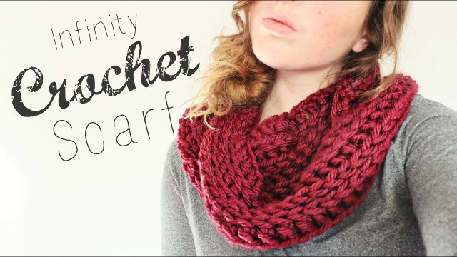 Snood Scarf Crochet Pattern Crochet Infinity Scarf Crochet Beginner Veronica Marie Youtube
