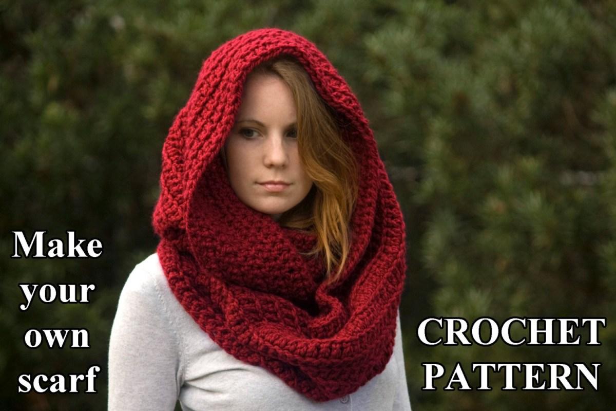 Snood Scarf Crochet Pattern Crochet Pattern Oversized Infinity Scarf Pattern Hooded Cowl Etsy
