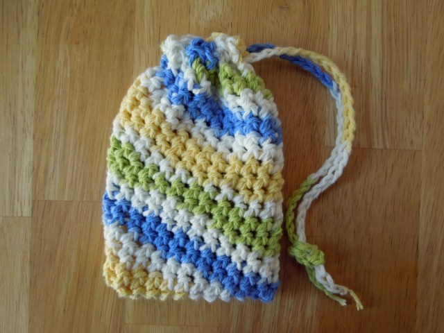 Soap Bag Crochet Pattern Simple Soap Saver Free Crochet Pattern