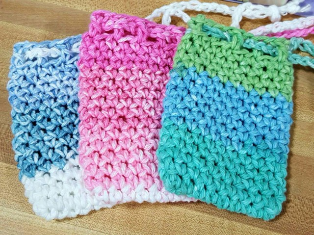 Soap Bag Crochet Pattern Soap Saver Set Soap Bags Crochet Cotton Soap Bag Goat Milk Soap