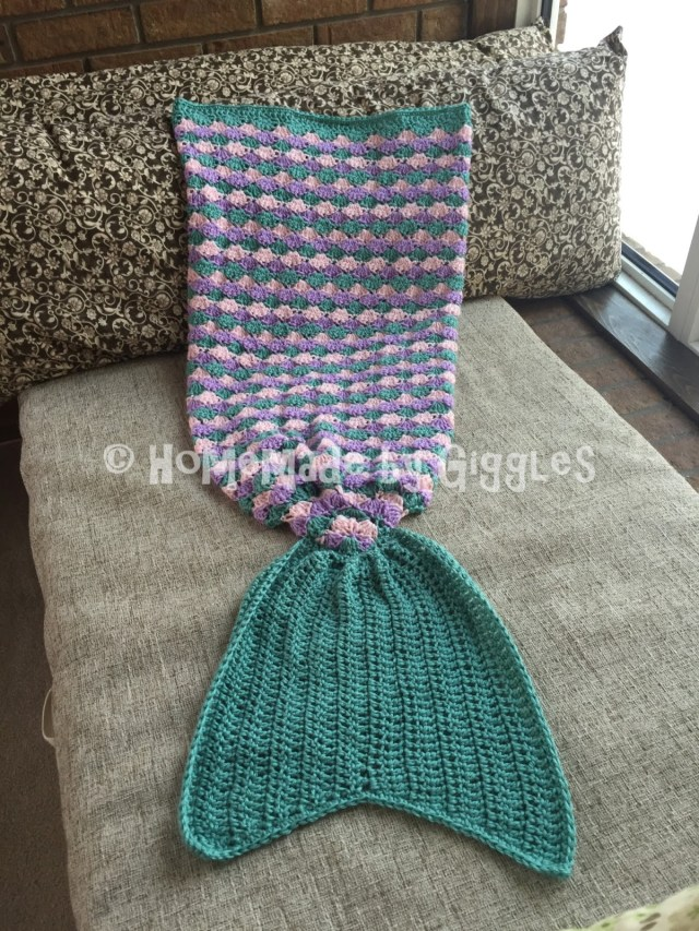 Star Shell Afghan Crochet Pattern Homemade Giggles Making A Mermaid Tail Blanket