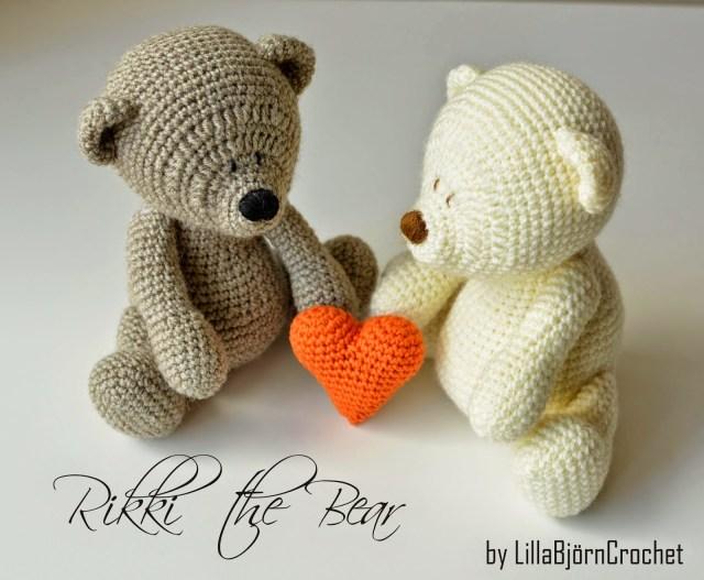 Teddy Bear Crochet Pattern Free Heart Pattern And My Rikki Bear Lillabjrns Crochet World
