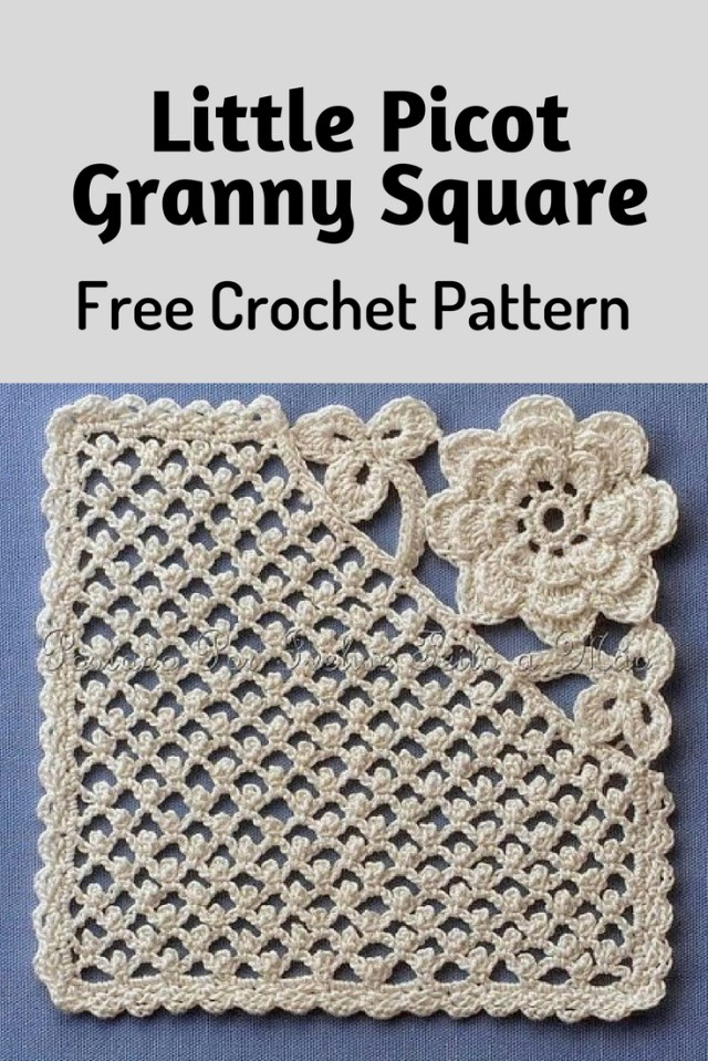 Unusual Crochet Patterns Little Picot Granny Square Is Really Unique And Amazing Crochet