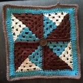 Crochet Pinwheel Afghan Square 2