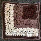 "French Corner 12"" Crochet Square 1"