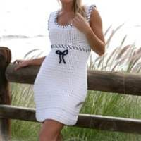 Hey Sailor! Crochet Dress by DROPS Design