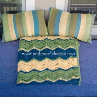 Triple Ripple Chevron Throw Afghan by Sara Sach from Posh Pooch Designs