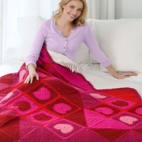 Warm My Heart Throw by Ann Regis for Red Heart