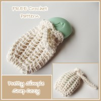 Pretty Simple Soap Cozy by Rhelena of CrochetN'Crafts