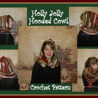 Holly Jolly Christmas Hooded Cowl ~ Sara Sach - Posh Pooch Designs