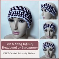 Yin & Yang Infinity Headband or Ear Warmer ~ Rhelena - CrochetN'Crafts