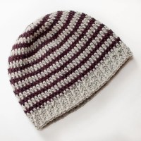 Basic Striped Crochet Hat ~ Petals to Picots