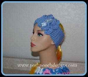 Double Ruffled Headband Earwarmer ~ Sara Sach - Posh Pooch Designs