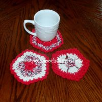 Patriotic Flower Coaster ~ Sara Sach - Posh Pooch Designs