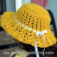 American Girl Doll Sunshine Hat ~ ABC Knitting Patterns