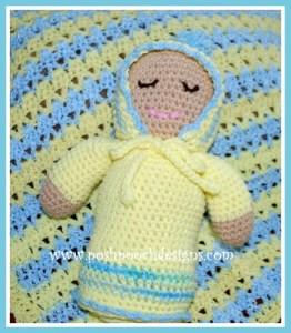 Sweet Baby Doll Stuffie ~ Sara Sach - Posh Pooch Designs
