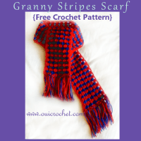 Granny Stripes Scarf ~ Oui Crochet
