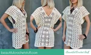 Crochet Leaf Tunic ~ Jane Green - Beautiful Crochet Stuff