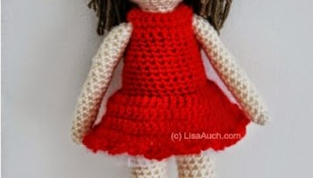 Crocheted American Girl Doll Dress Pattern | Crochet doll clothes ... | 200x350