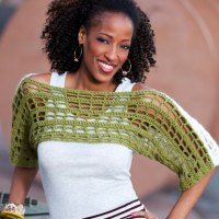 Two-Tone Shrug ~ Double Stitch Twins - Red Heart