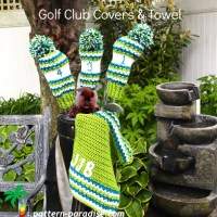 Golf Club Covers and Towel ~ Pattern Paradise