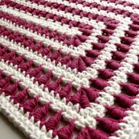 A Bullion Stitch Placemat ~ Rhelena - CrochetN'Crafts
