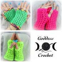 """Madonna"" Inspired Wristers ~ Goddess Crochet"