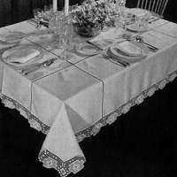 Festival Tablecloth ~ Free Vintage Crochet
