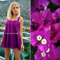 Crochet Purple Dress ~ Jane Green - Beautiful Crochet Stuff