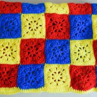 Checkerboard in Primary Colors Blanket ~ Marie Segares/Underground Crafter