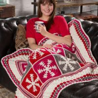 Snowflake Throw ~ Jessie Rayot - Red Heart
