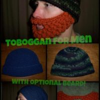 A Tobbogan For Men with Optional Beard by Stitch11